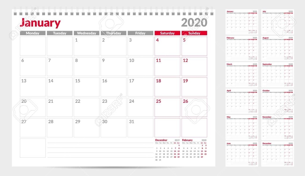 Monthly Calender Starting With Monday   Calendar Template