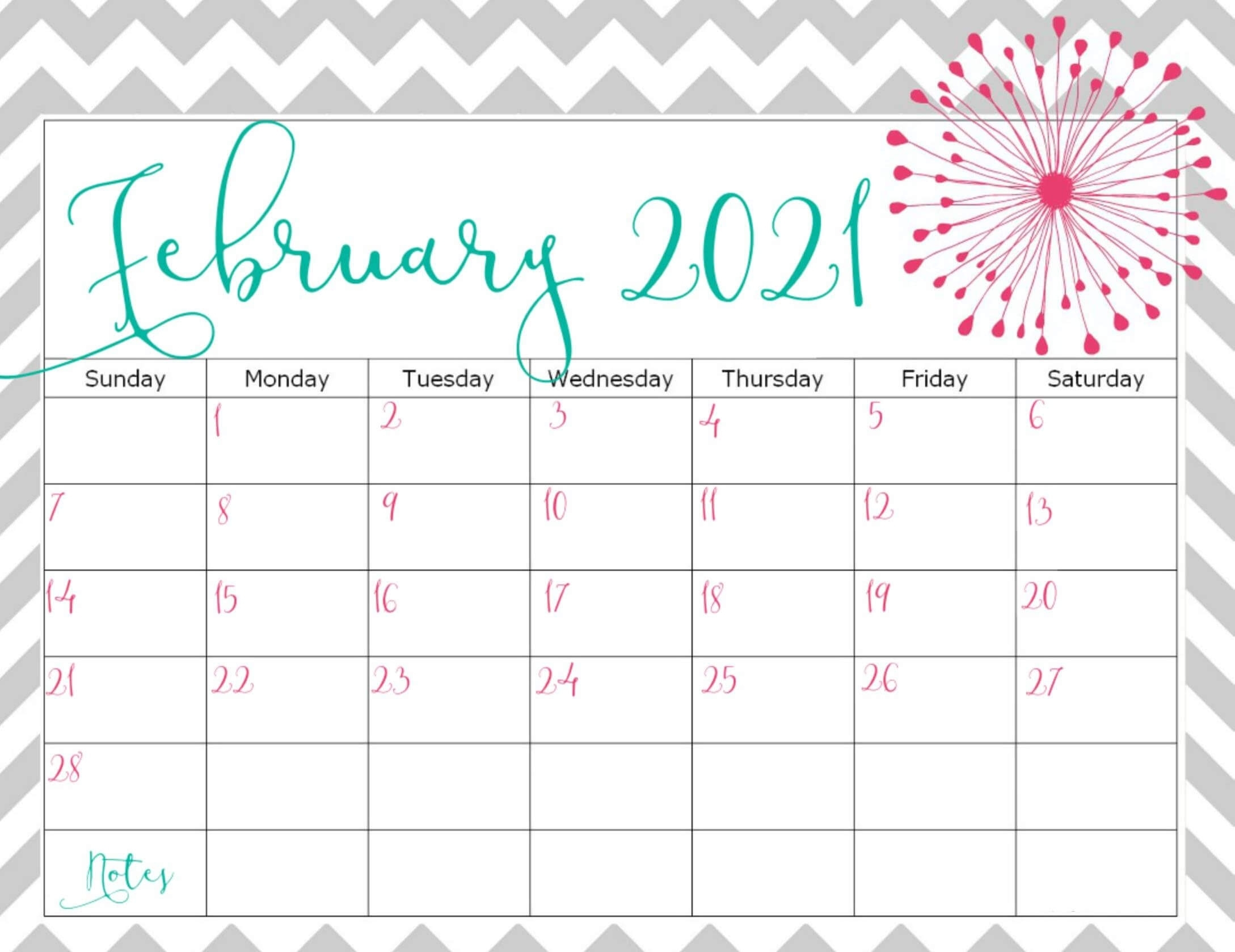 Monthly February 2021 Calendar Template Pdf Excel - Web