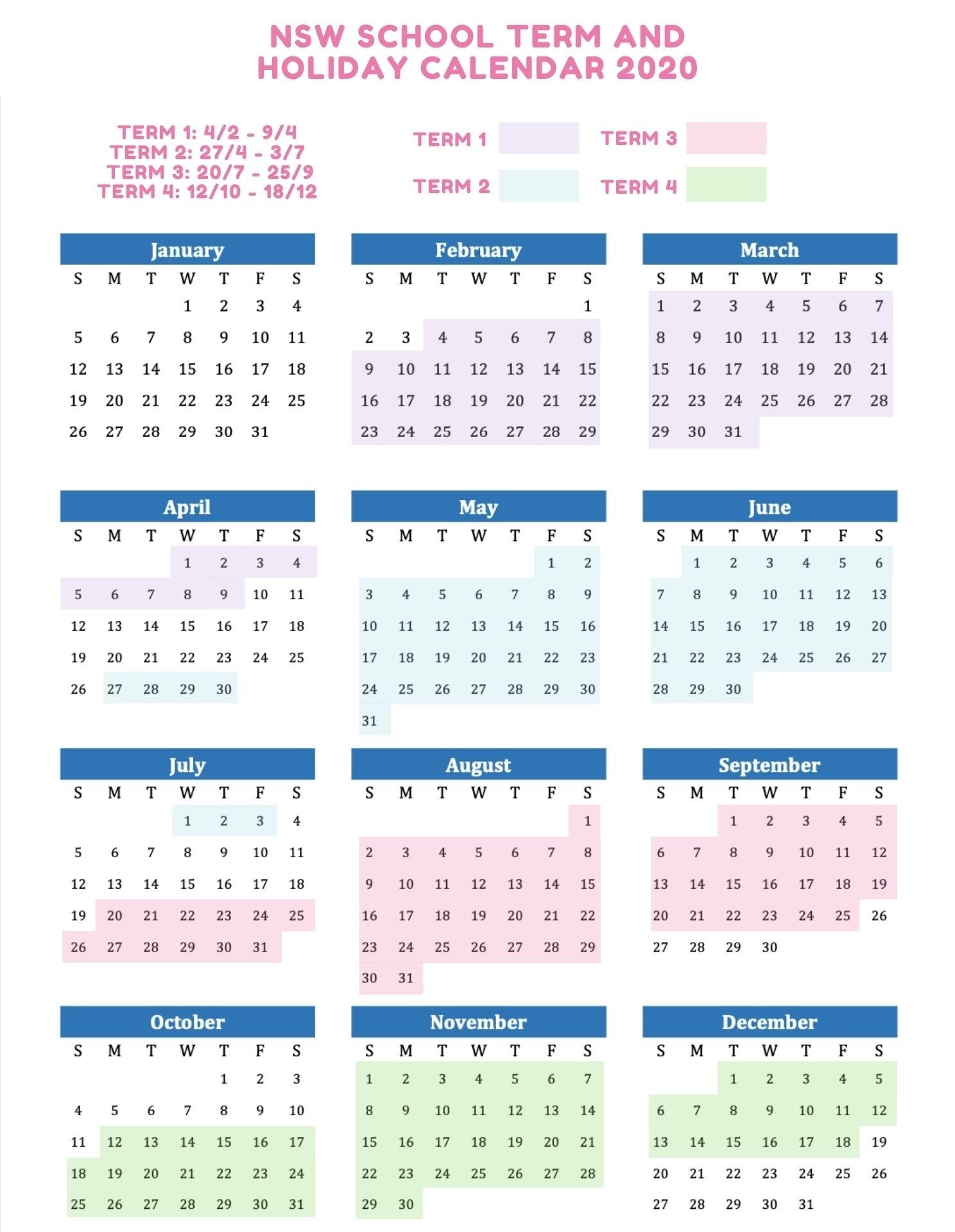 Nsw School Calendar 2021 Printable | 2021 Printable Calendars