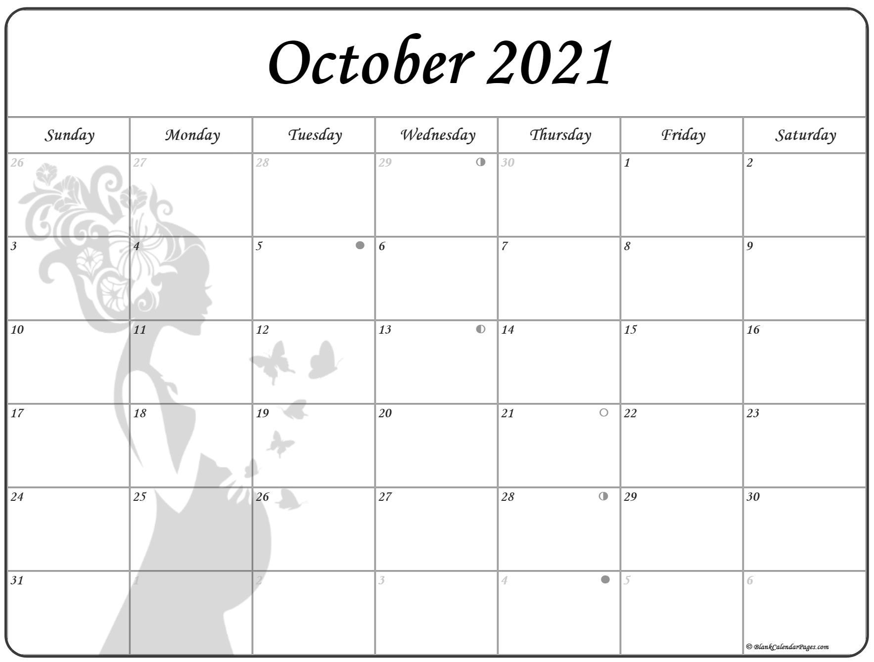 October 2021 Pregnancy Calendar   Fertility Calendar