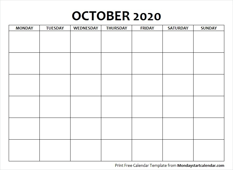October Calendar Archives - Page 6 Of 7 - Monday Start