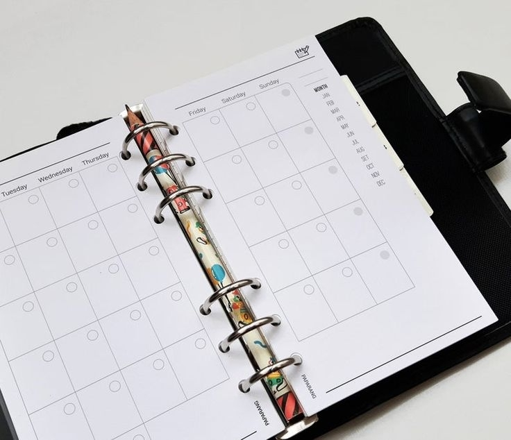 Personal Undated Monthly Planner