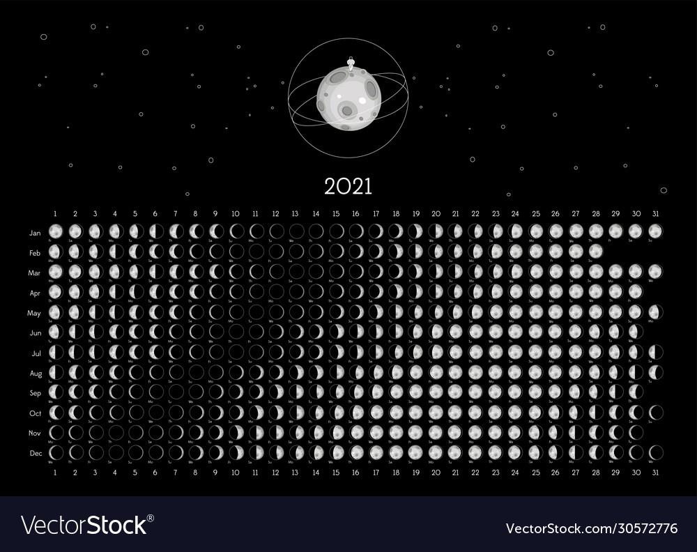 Phases Of The Moon Calendar 2021   Academic Calendar