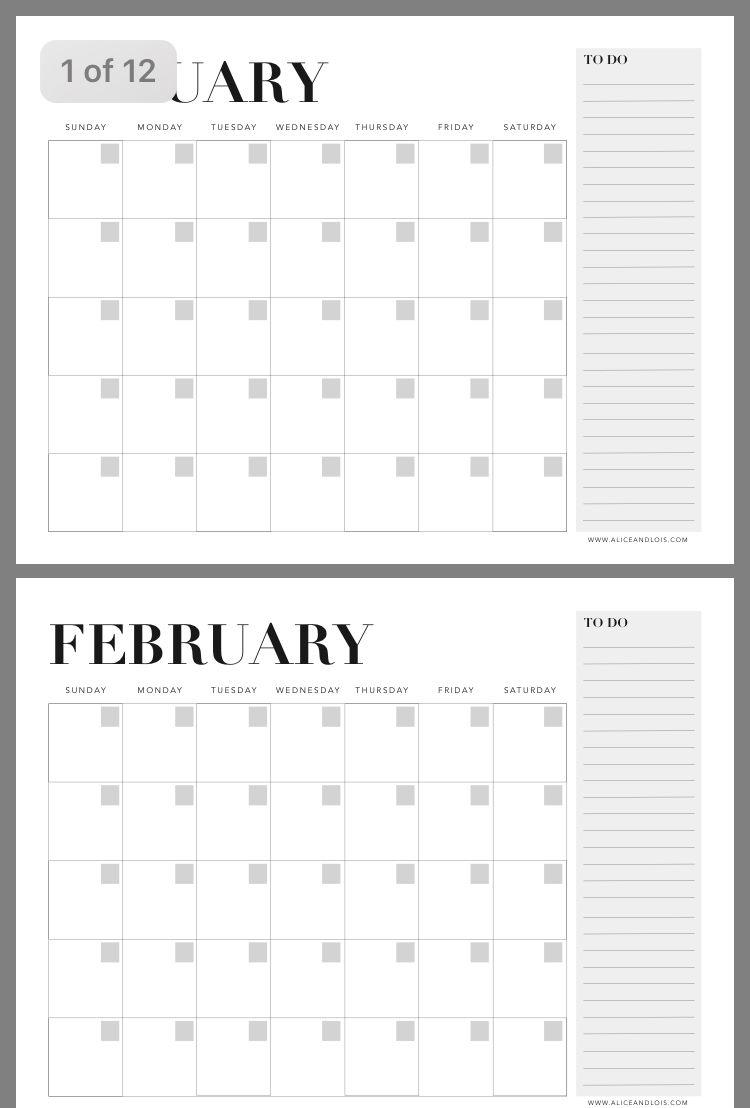 Piningy Gafaar On Calendar | Sunday Monday Tuesday