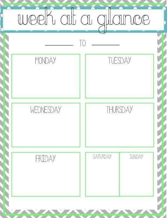 Pinmichele Balme On Organisation   Week At A Glance