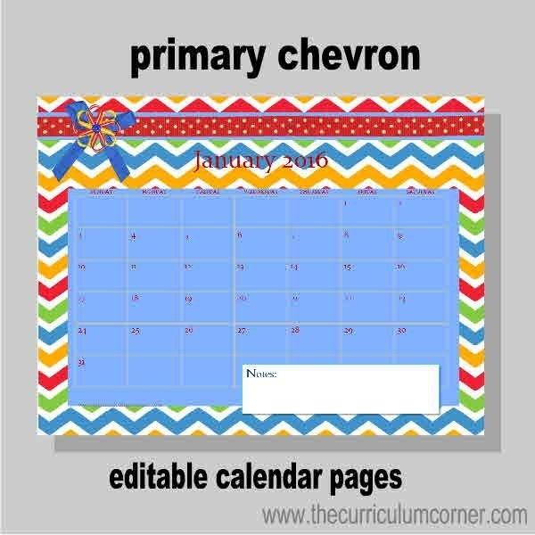 Planning Binder Calendar Pages | Calendar Pages, Teacher