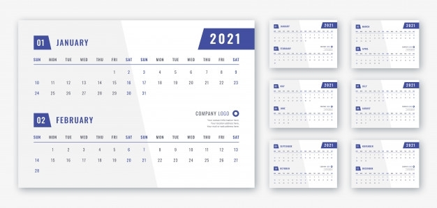 Premium Psd | 2021 Desk Calendar Template
