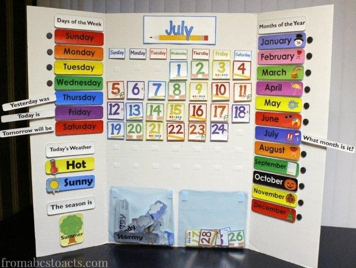 Preschool Calendar Board Days Of The Week Printables