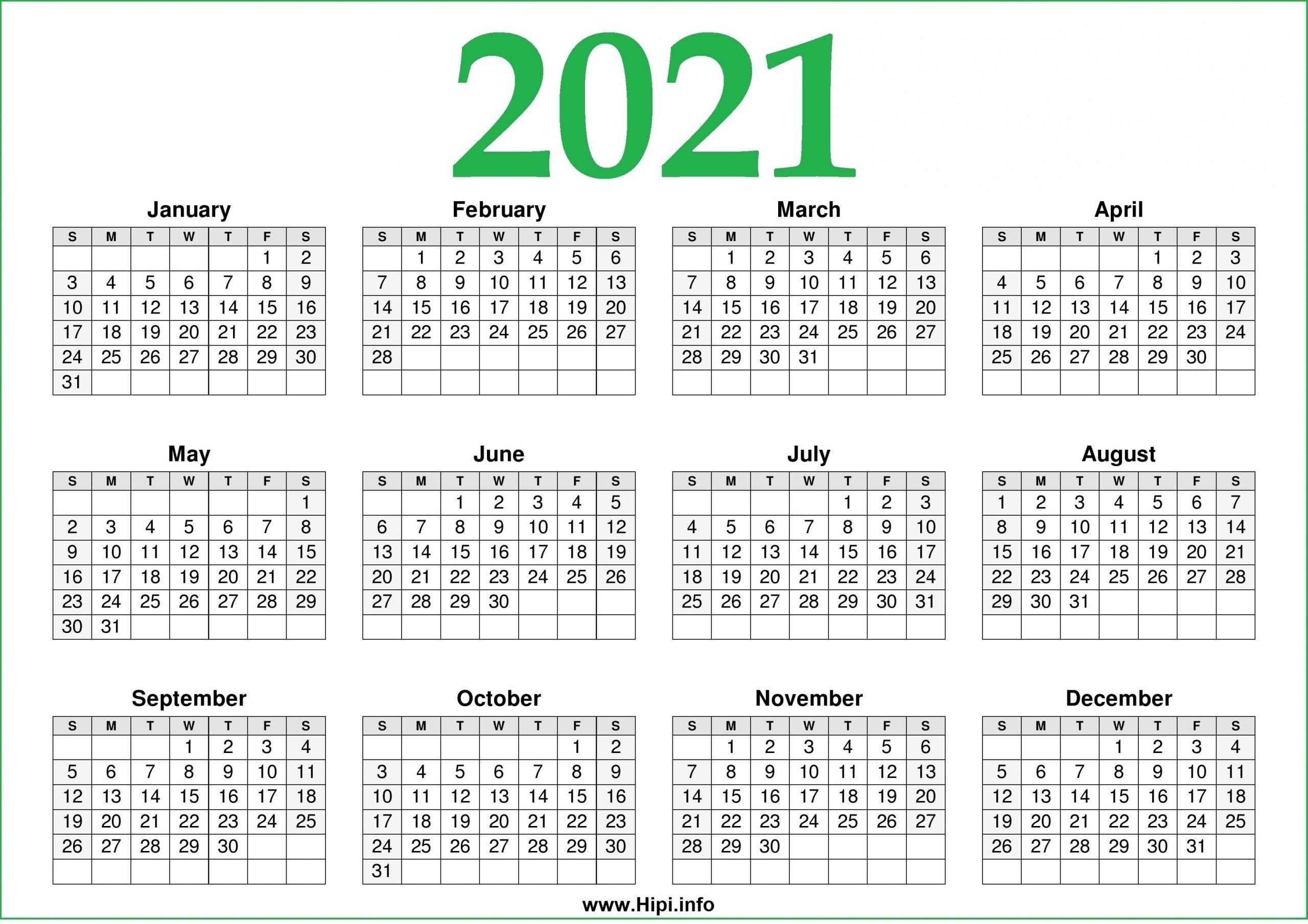 Print Free 2021 Calendar Without Downloading   Calendar