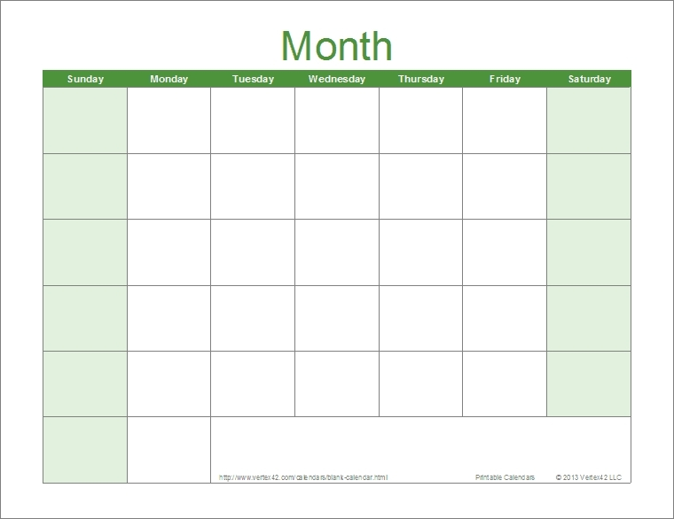 Print Monday Through Sunday Calendar Photo | Calendar