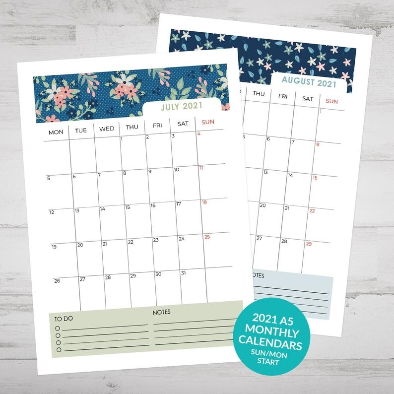 Free Calendars 2021 Printable Monthly For 3 Ring Binders