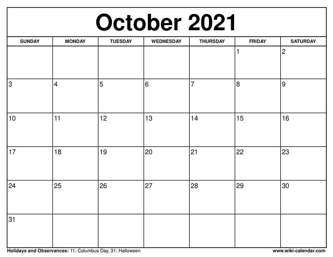 Printable 8.5X11 Calendar : 2021 Monthly Calendar