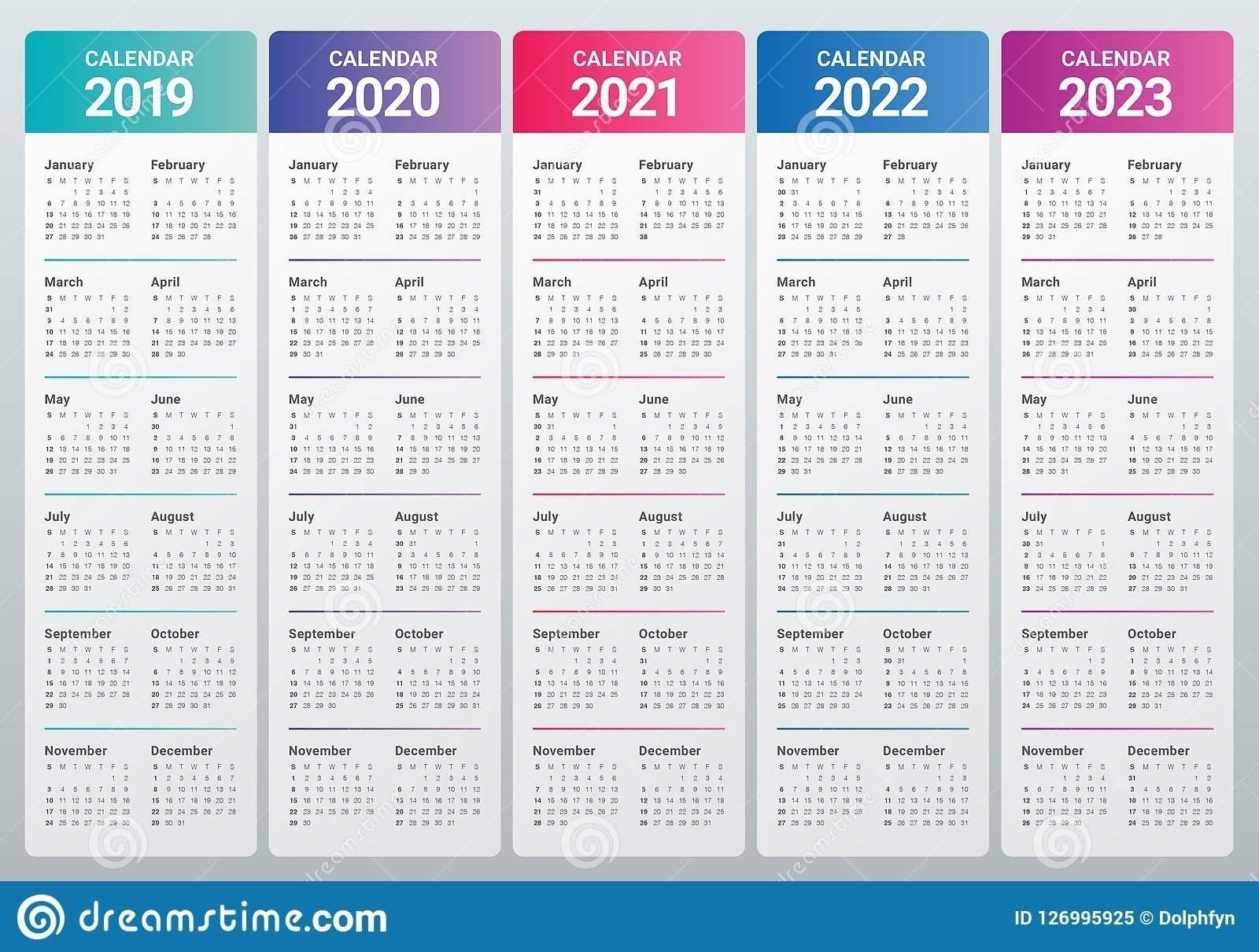 Printable Calendar 2020 2021 2022 2023 - Calendar