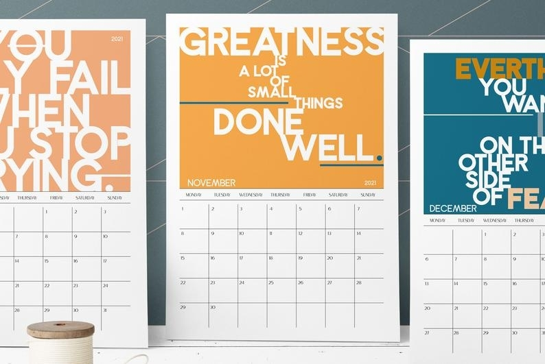 Printable Calendar 2020 & 2021 With Motivational Quotes