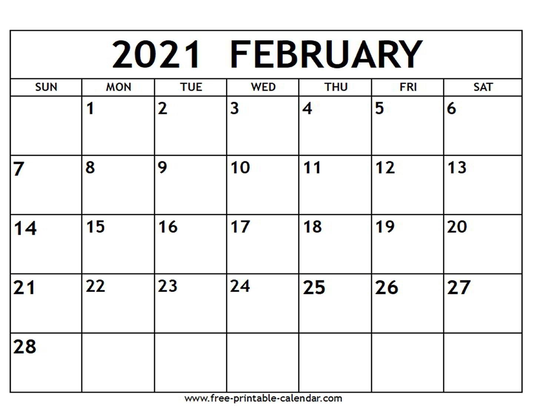 Printable Calendar 2021