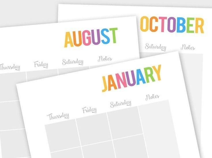 Printable Calendar Any Year, Family Binder, Family Planner
