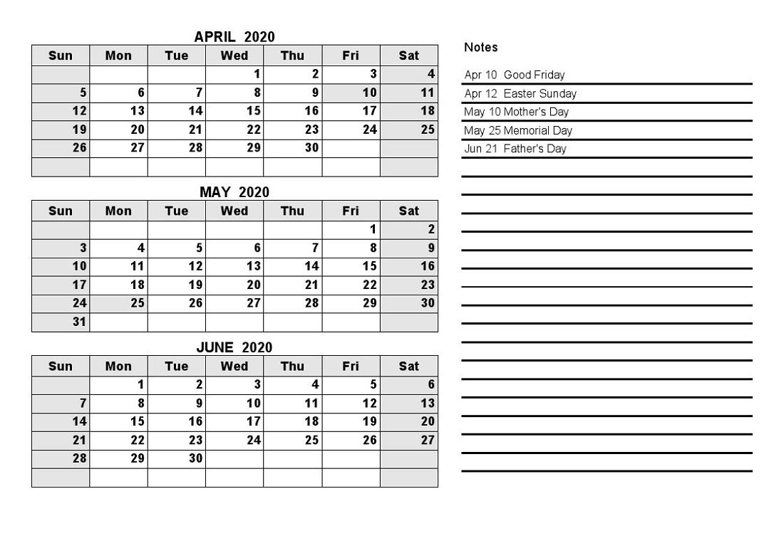 Printable Calendar Last Quarter 2020   Month Calendar