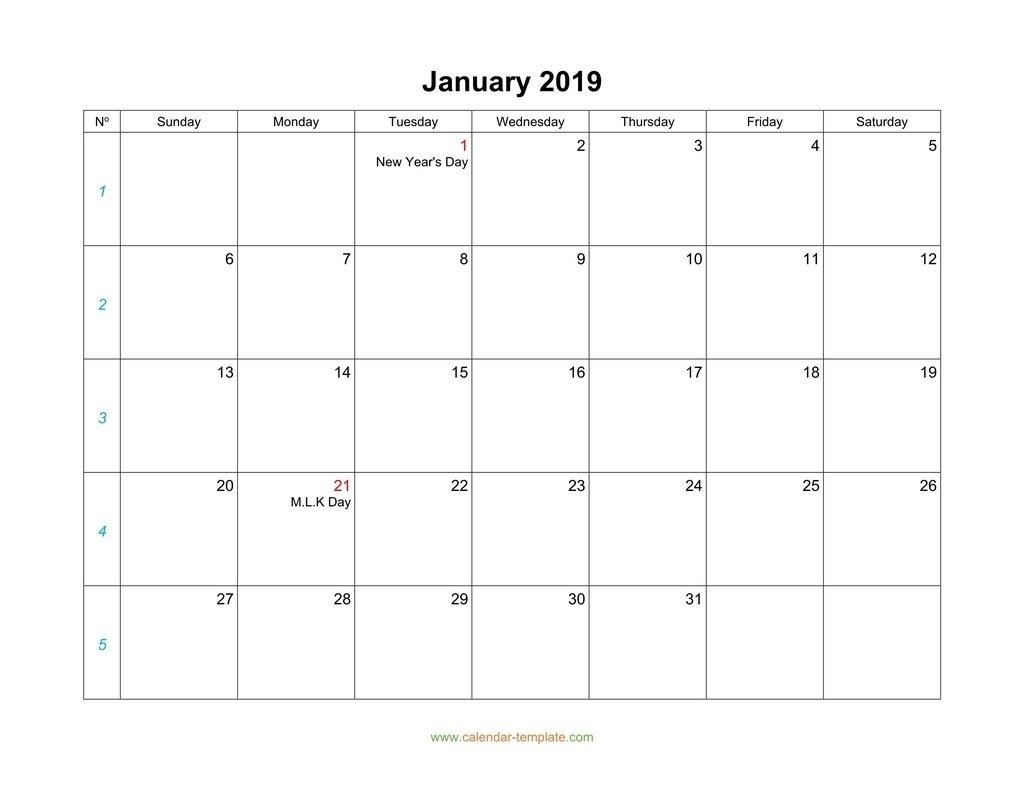 Printable Calendar Monday To Sunday - Calendar Inspiration