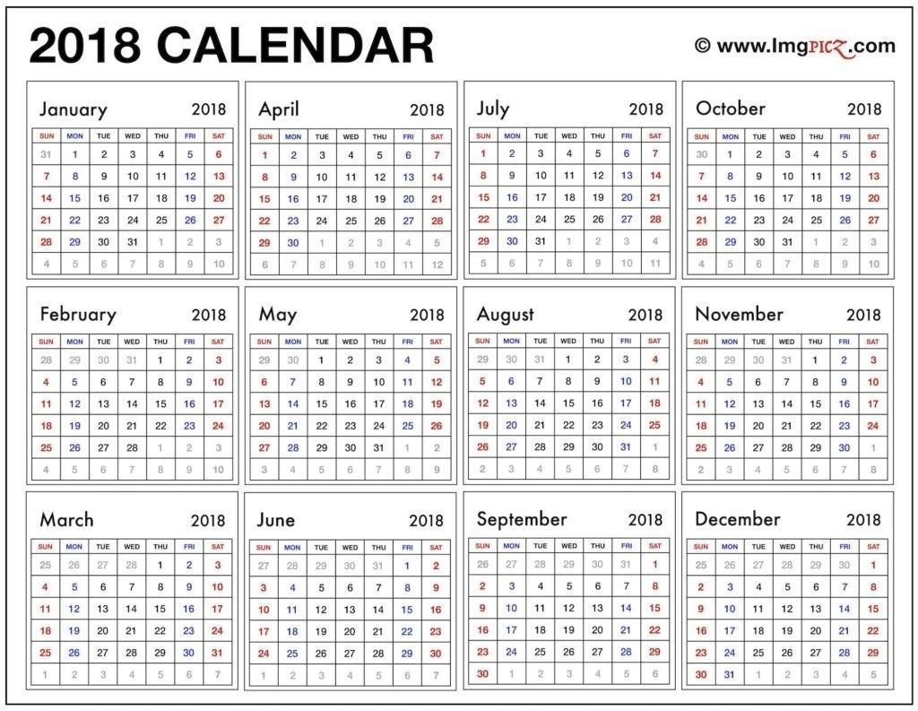 Printable Calendar Year At A Glance | Ten Free Printable