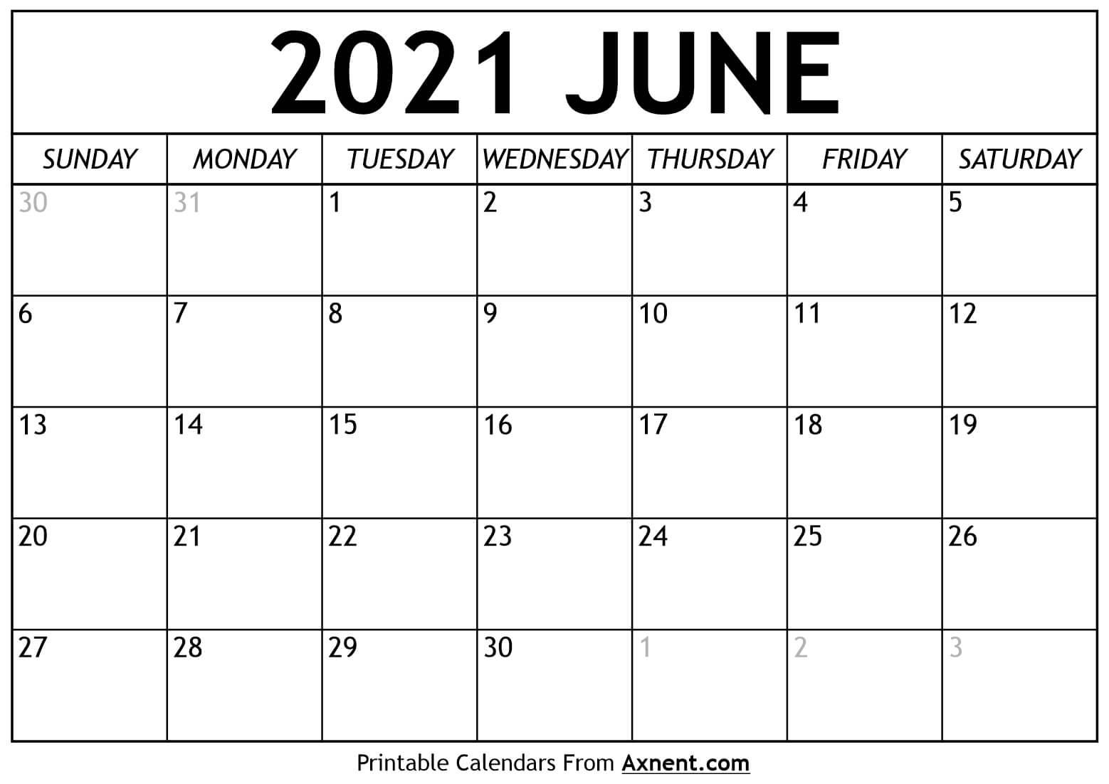 Printable July 2021 Calendar Template - Print Now