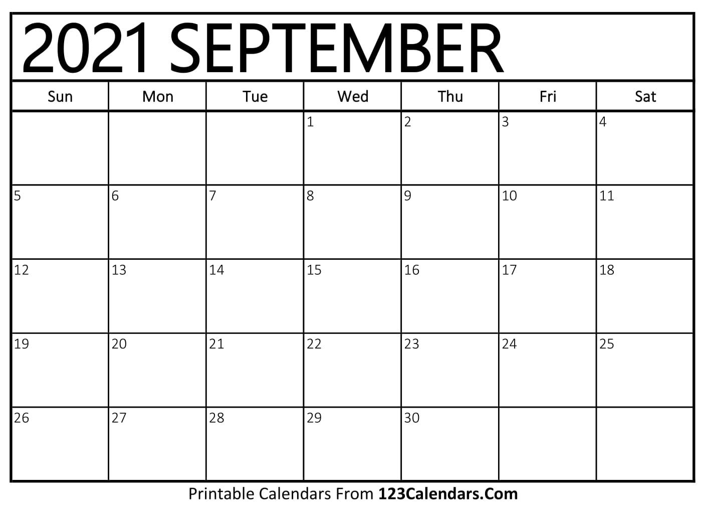 Printable September 2021 Calendar Templates   123Calendars