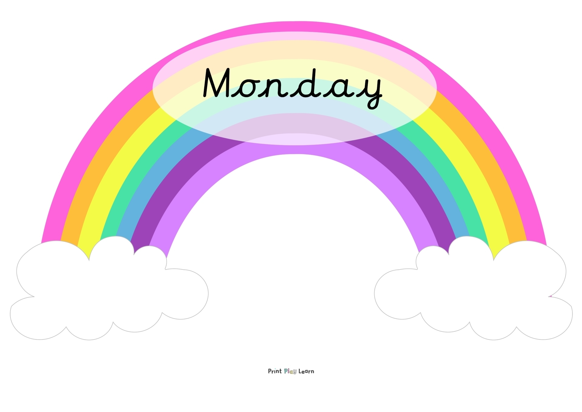 Rainbow Classroom Posters Days Of The Week - Printable