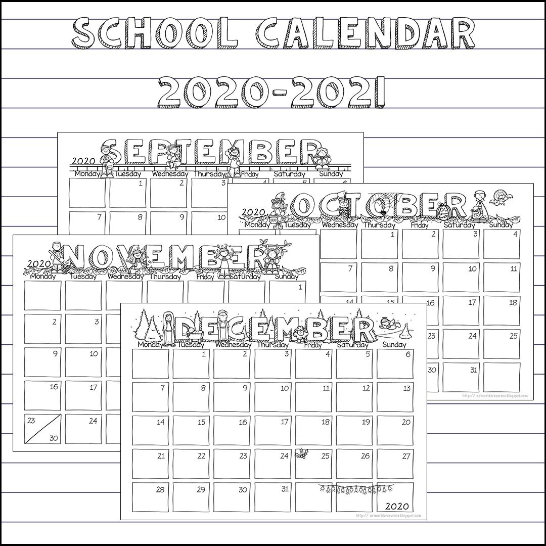 School Calendar 2020-2021 (1St Quarter) | The Resource