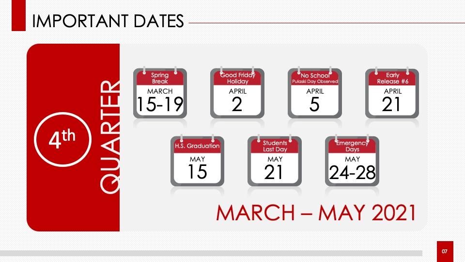 School Calendar / Proposed 2020-2021 Academic Calendar