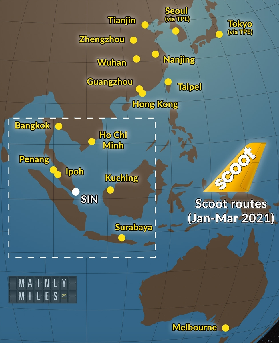 Scoot Announces Flight Schedule Through To March 2021