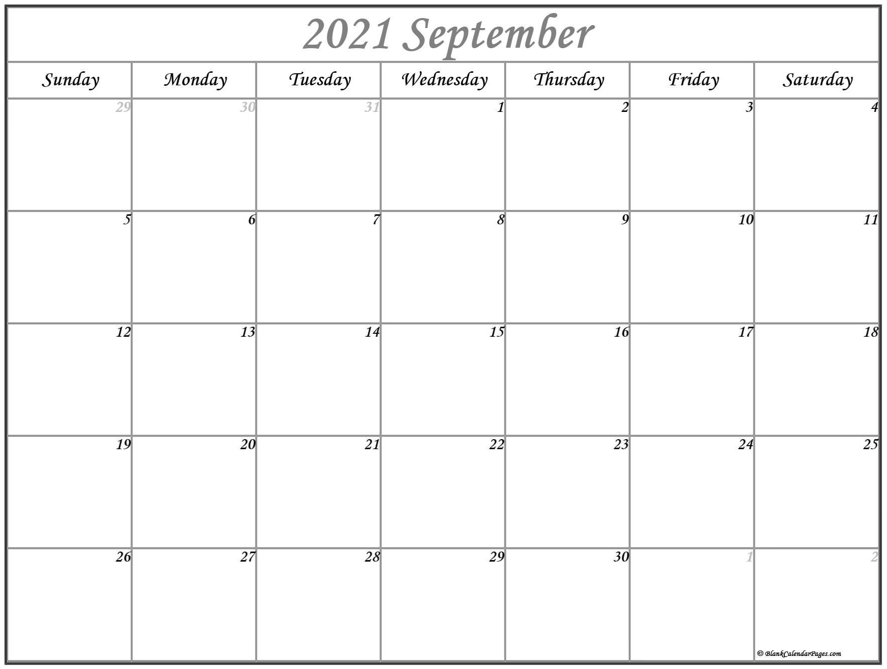 September 2021 Calendar   Free Printable Calendar Templates