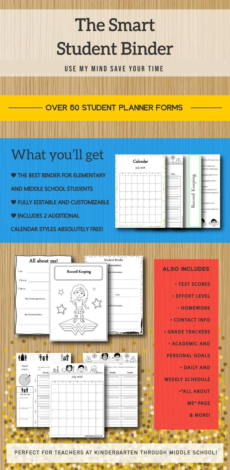 Smart Student Binder: Daily Planner, Classroom Forms