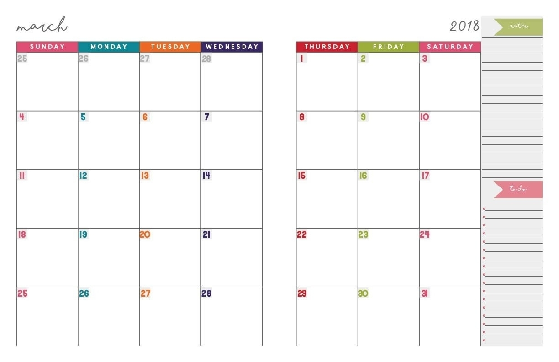 Sundat To Saturday Printable Monthly Blank Calendar