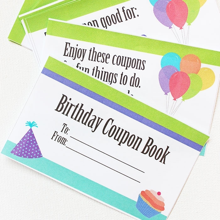 This Printable Birthday Coupon Book Is The Best Gift For