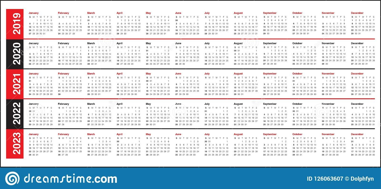 Three Year Calendar 2021-2023   Calendar Printables Free Blank