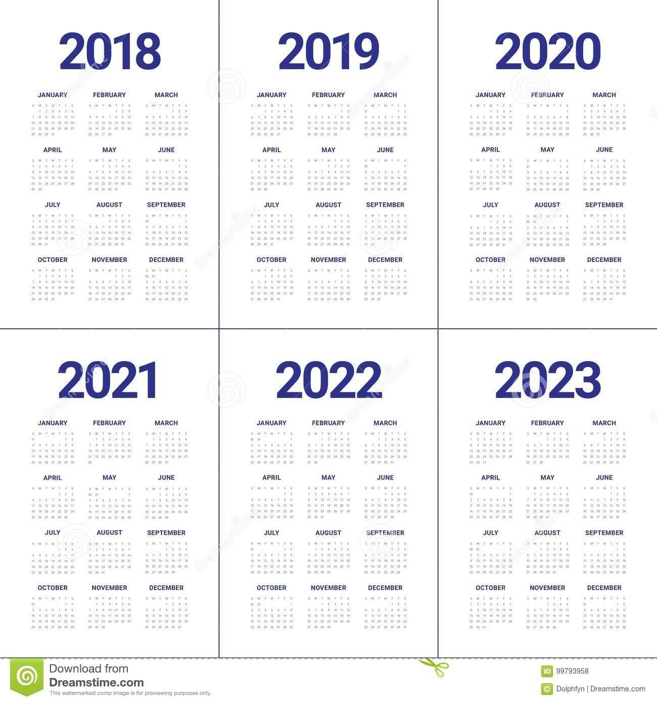 Three Year Printable Calendar 2021 To 2023   Calendar