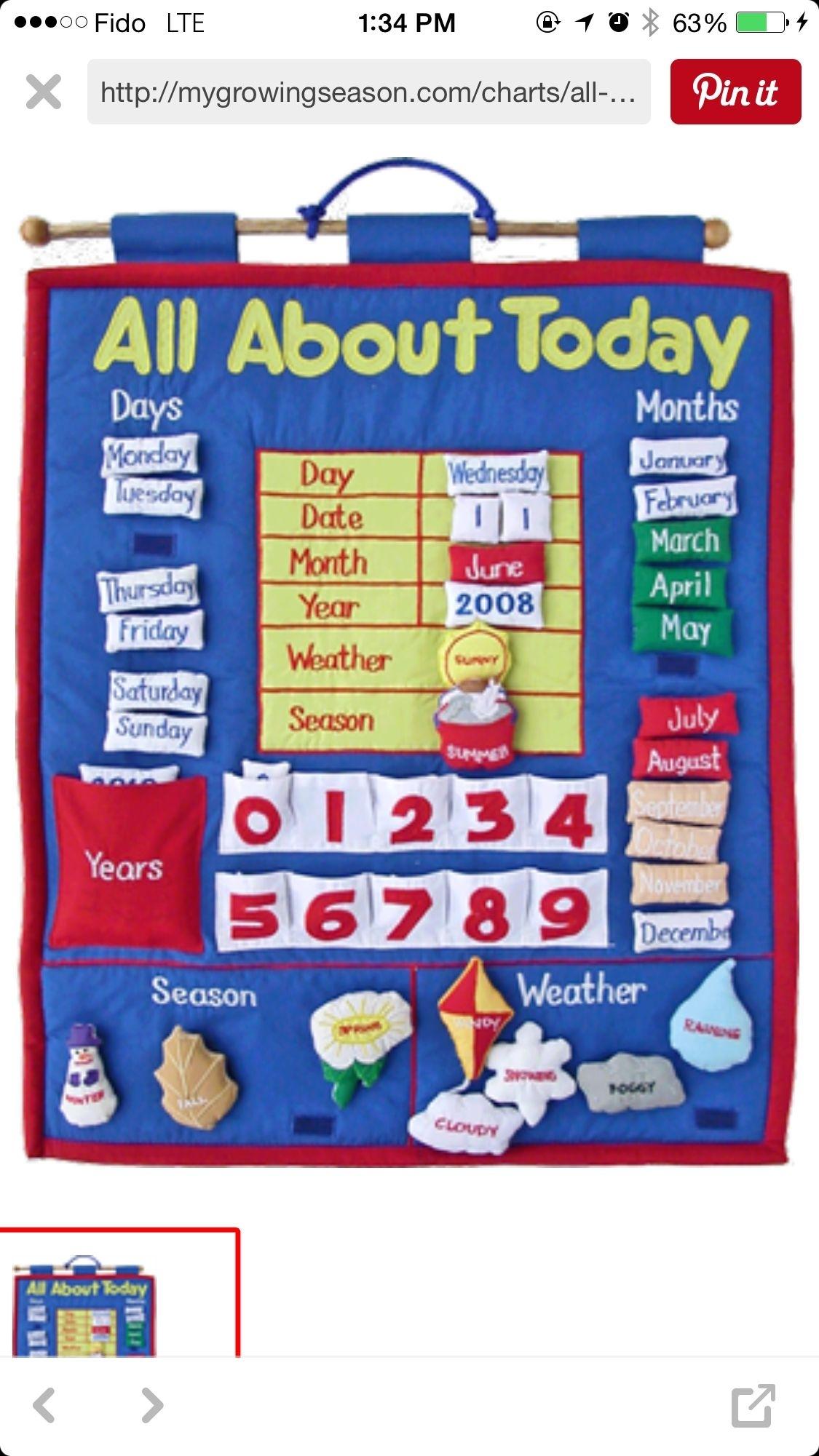 Today Board | Preschool Calendar, Classroom Calendar