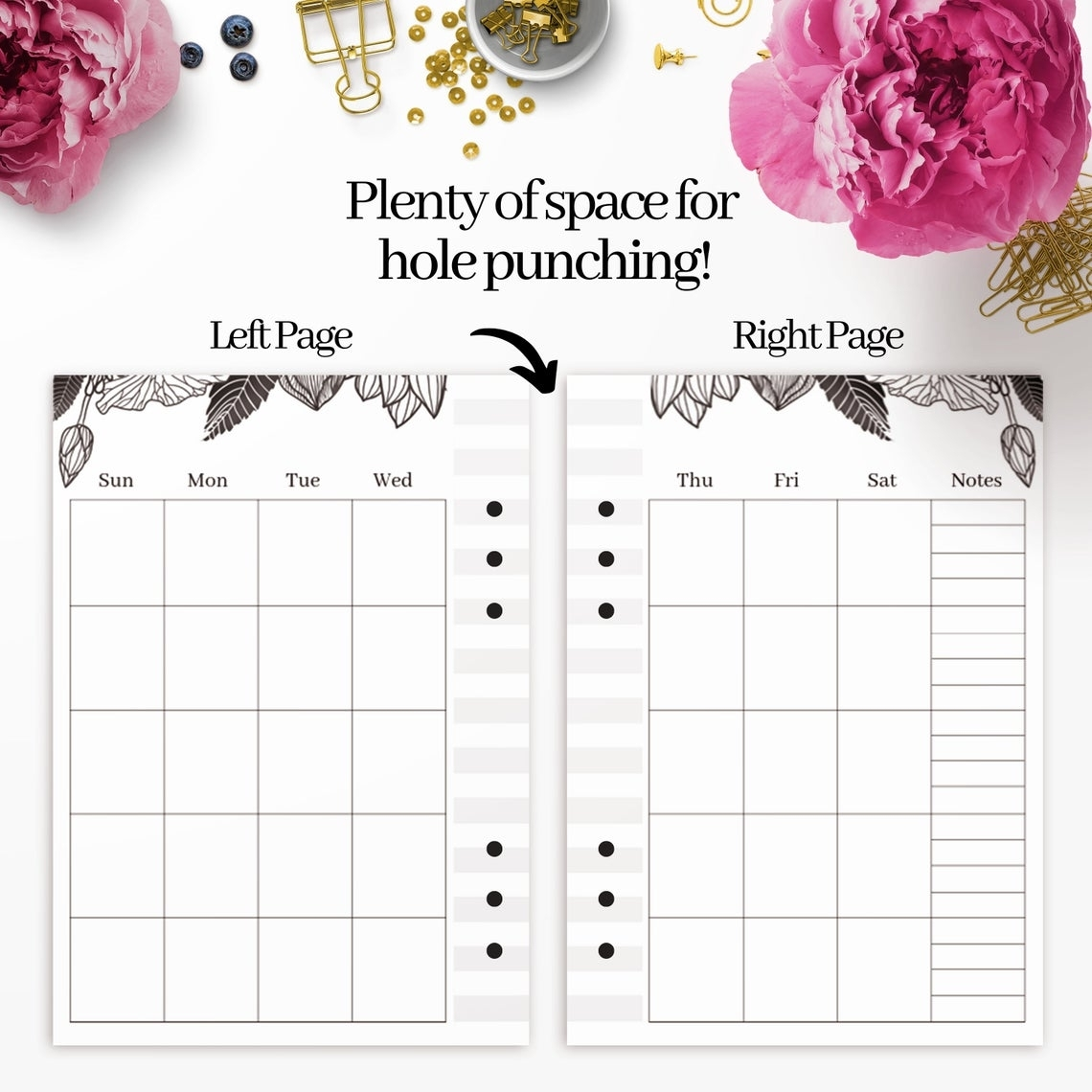 Undated Monthly Calendar Printable Template Blank Monthly