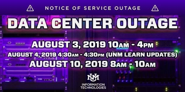 Unm It Schedules Data Center Outages: Unm Newsroom