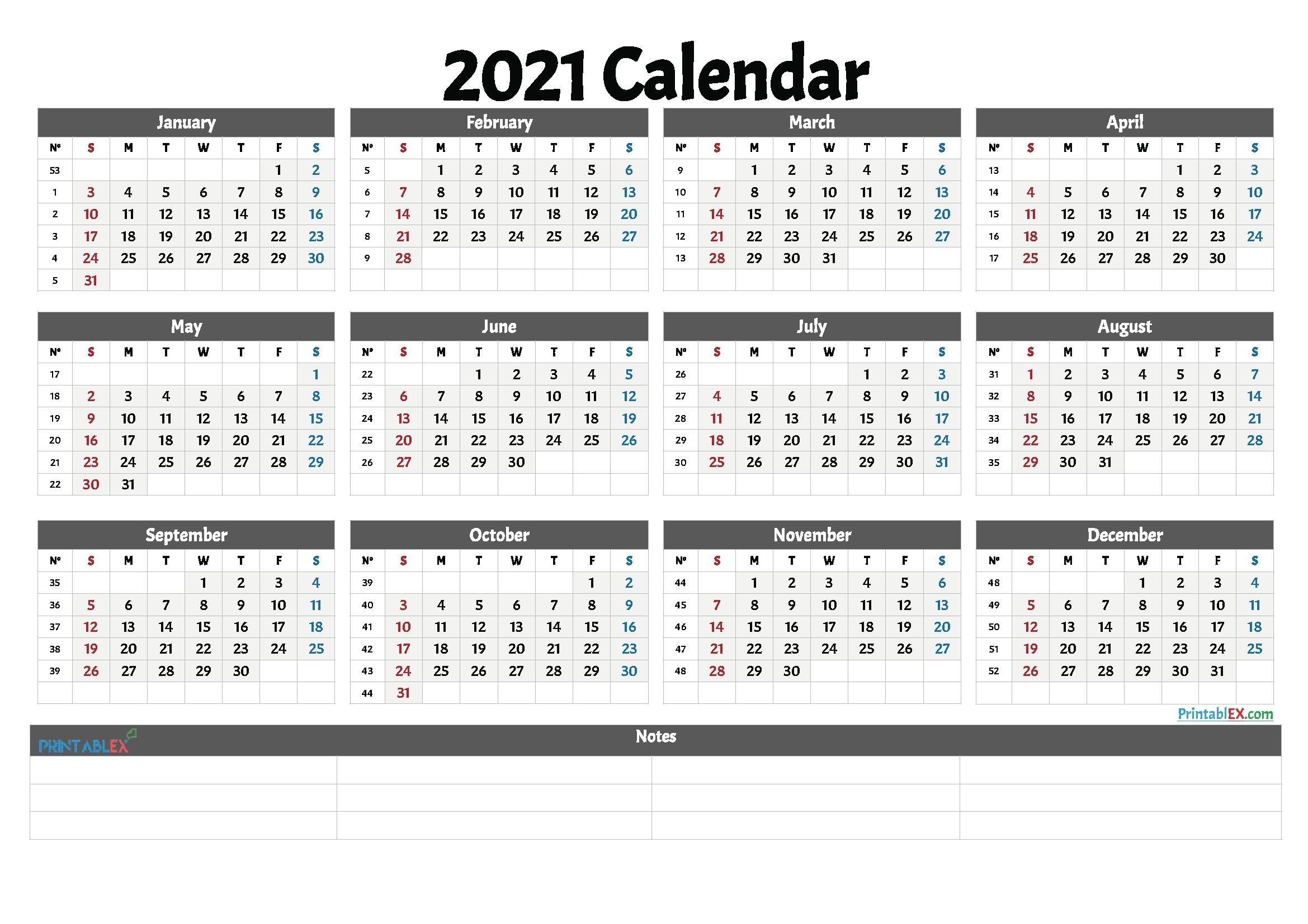 Week 17 Calendar 2021 | Month Calendar Printable