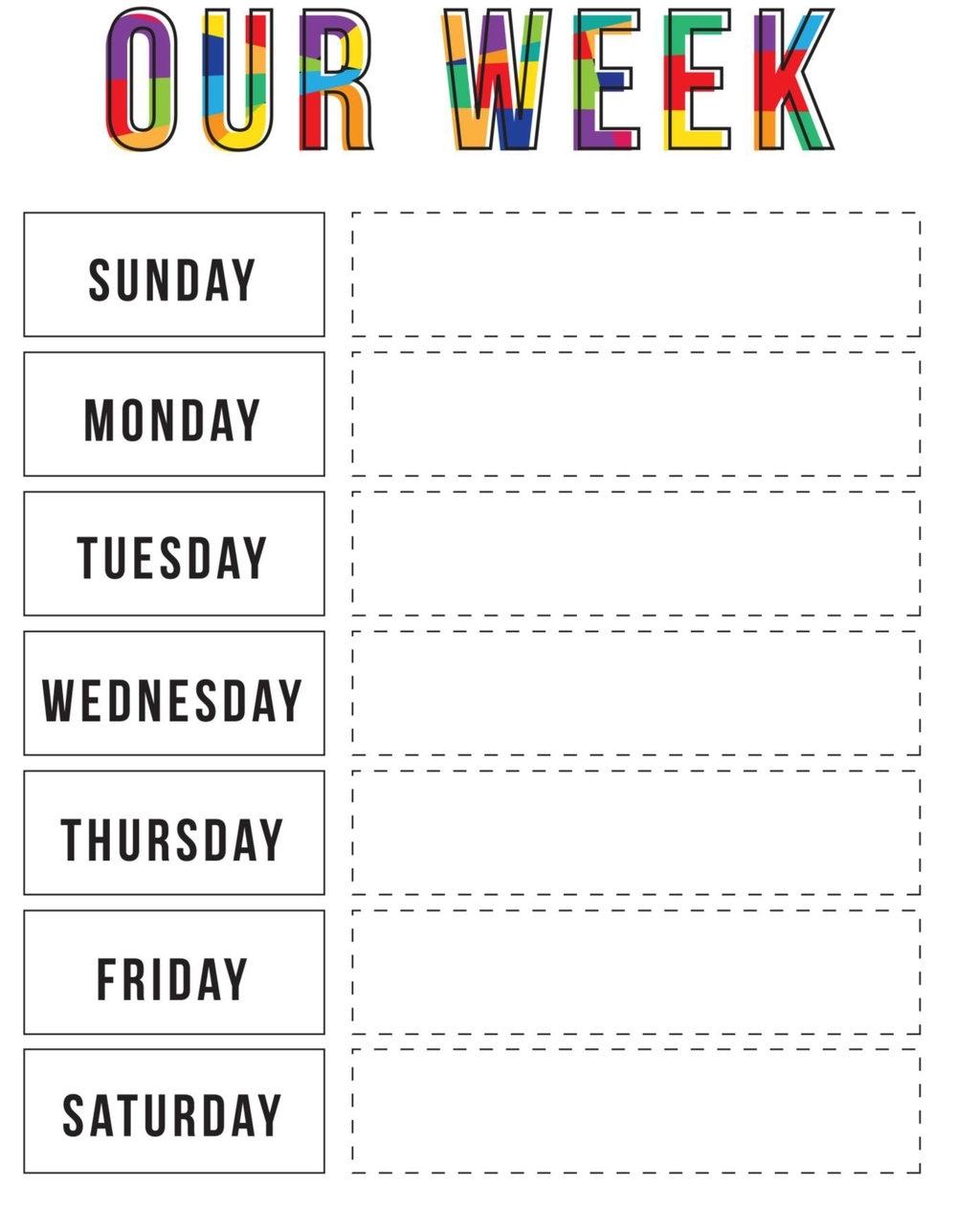 Week At A Glance Download | Calendar Printables Free Templates