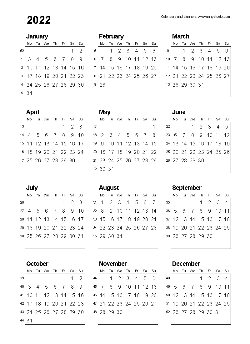 Week Wise 2021 Calendar | Month Calendar Printable