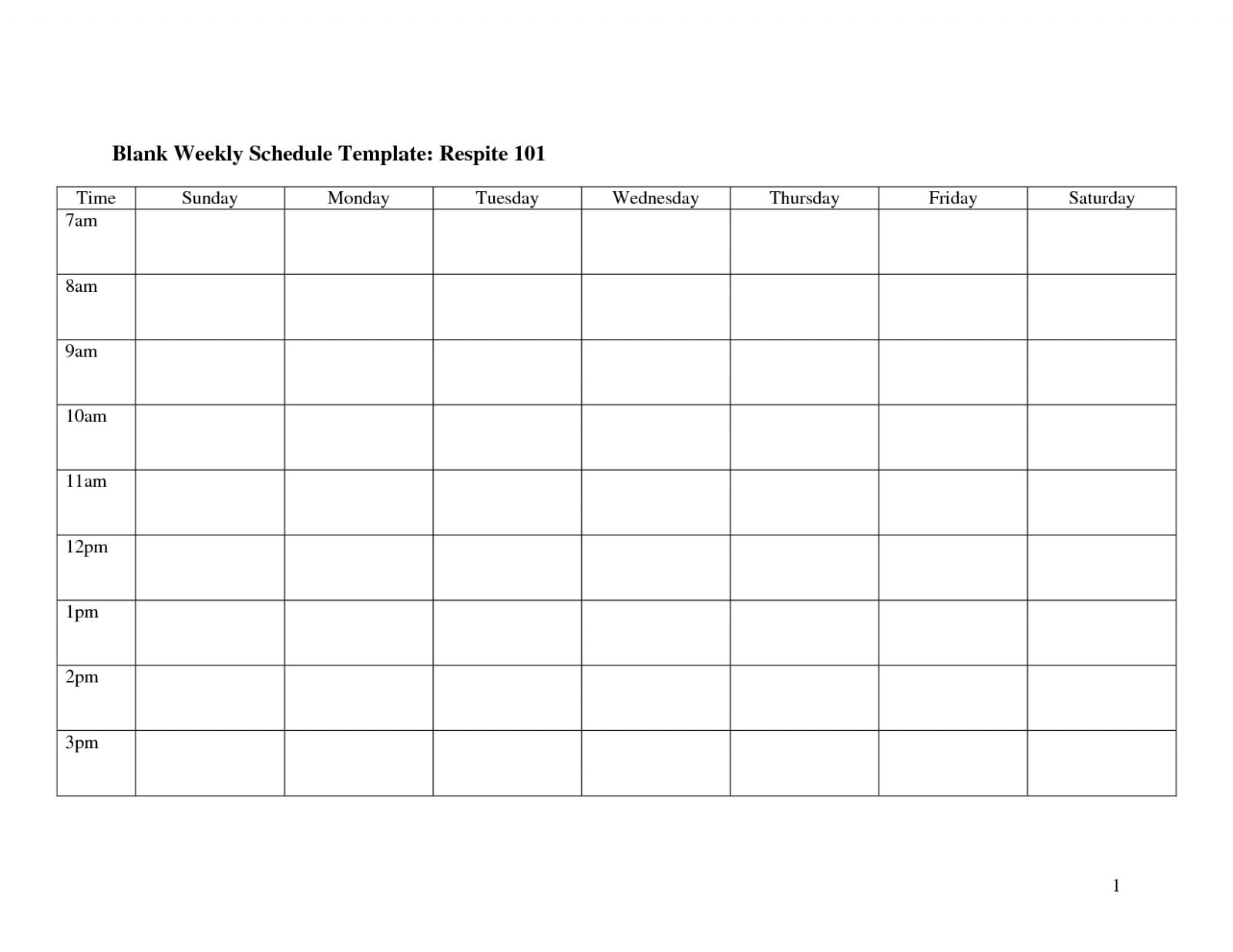 Weekly Calendar Template Monday To Friday   Example