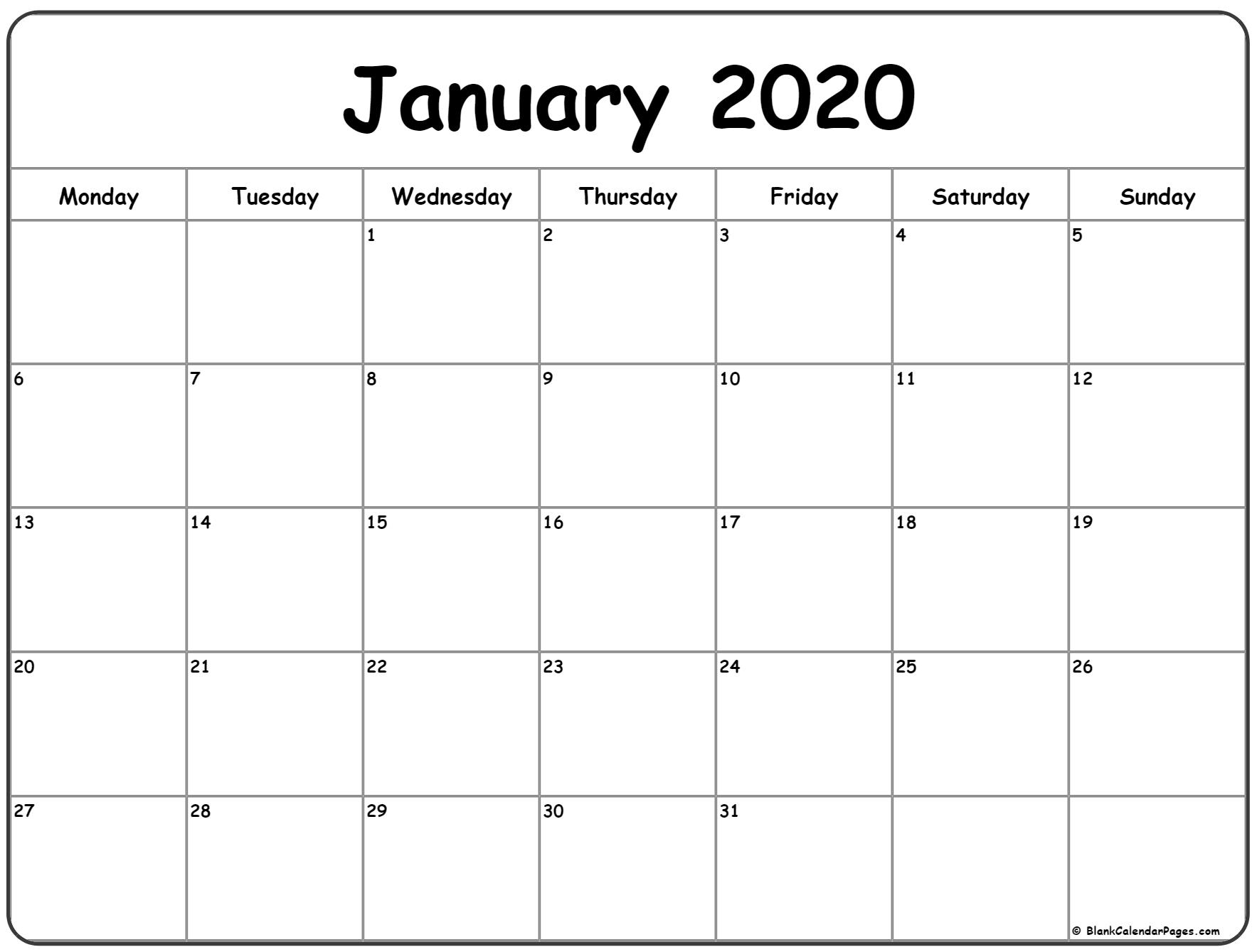 Weekly Planner January 2020