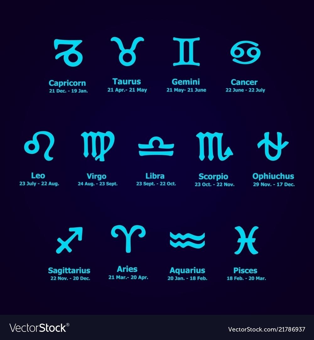 Zodiac Calendar With Ophiuchus   Ten Free Printable